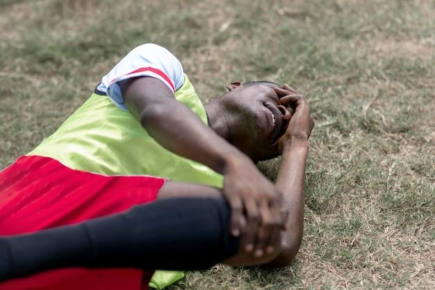 Футболист пострадал во время матча