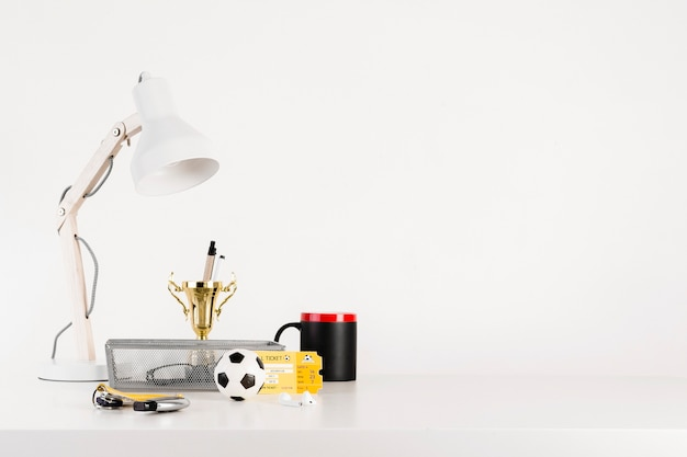 Football still life with copyspace