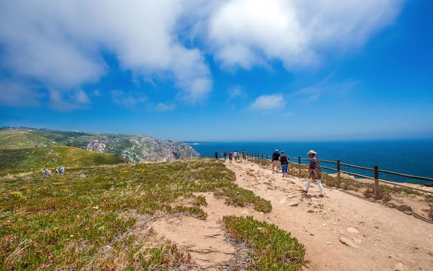Footpath near cabo da roca, portugal