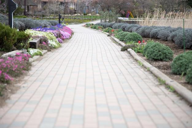 Footpath in oishi park at bus stop 21, kawaguchiko lake