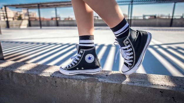 Footwear modern shoes sport beautiful background