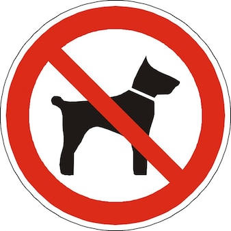Forbidden symbol allowed sign prohibited dogs