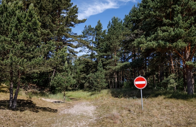 Forbidding road sign