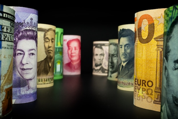Foreign currency with international money exchange