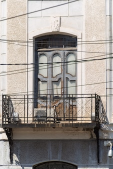 Forged balcony of an old house