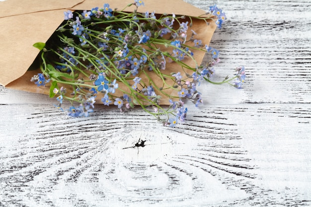 Forget-me-nots in the envelope