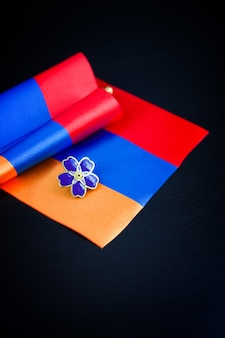 Forget-me-not- symbol of centennial of armenian genocide in ottoman empire