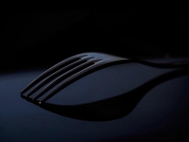 Fork dark background advertising style