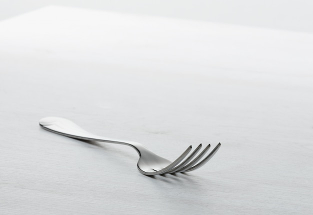 Fork on grey table