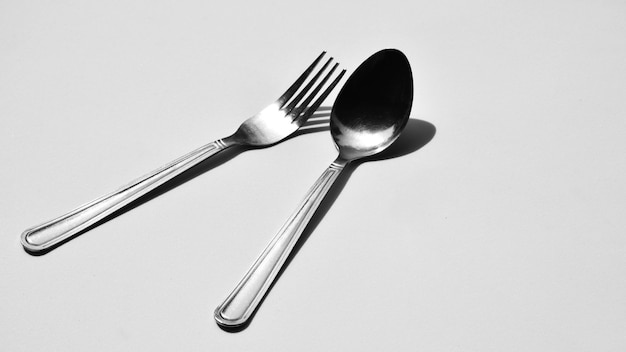 Fork and spoon - monochrome