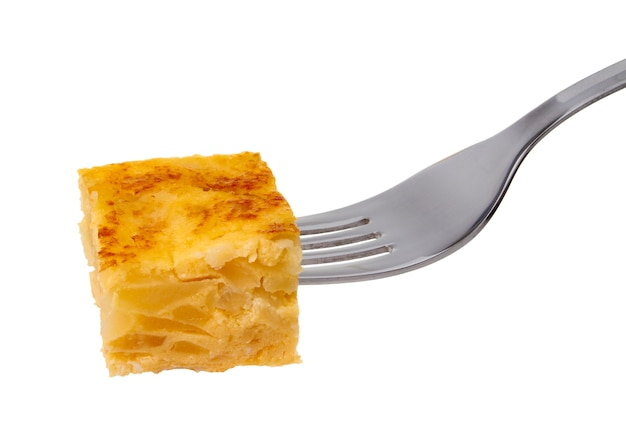 Fork with spanish omelette