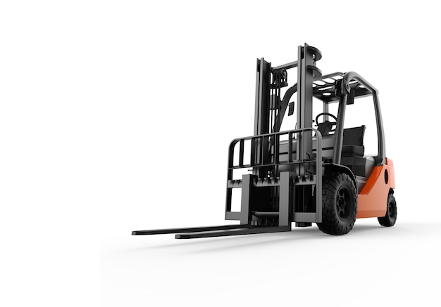 Forklift isolated on white