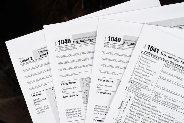 フォーム1040個人所得税申告書米国税務フォーム米国の空白の税務フォーム