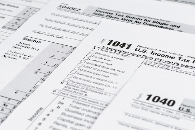 フォーム1041個人所得税申告書米国税務フォーム米国の空白の税務フォーム