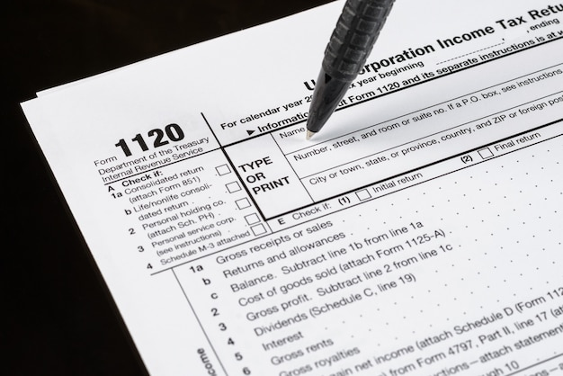 Form 1120 us corporation income tax return united states tax forms american blank tax forms tax time