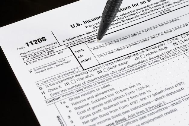 フォーム1120ss法人の米国所得税申告書米国税務フォーム米国の空白の税務フォーム