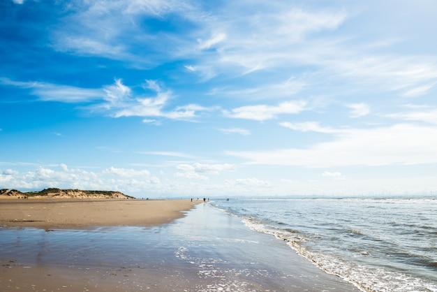 Formby beach  near liverpool on a sunny day
