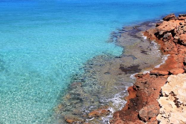 Formentera cala saona地中海の最高のビーチ