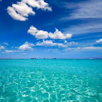 Formentera illetes illetas tropical beach near ibiza