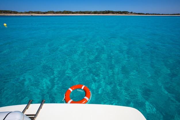 Formentera illetes illetas with round buoy