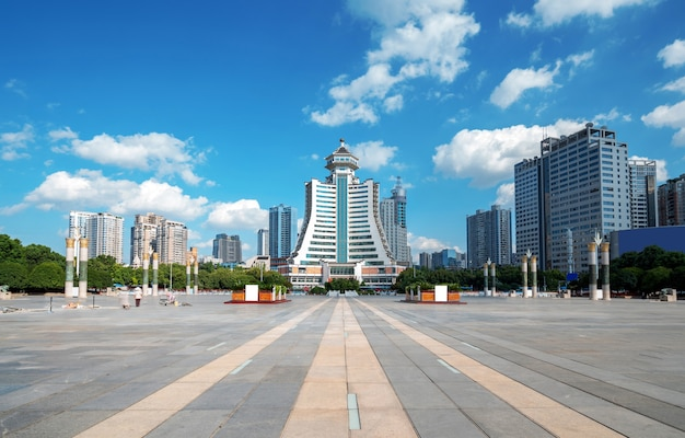 The fortification square is a landmark building in guiyang, guizhou, china.