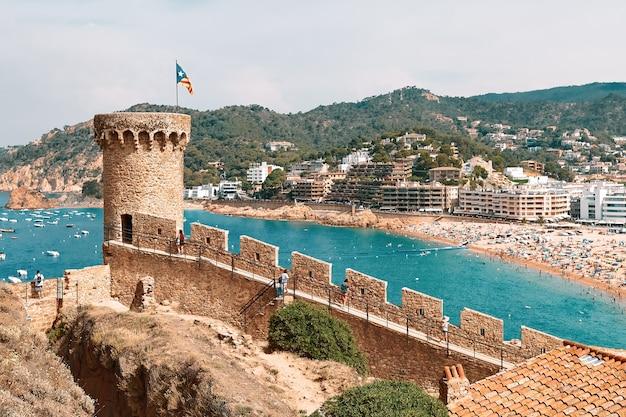 Fortress in tossa de mar, spain