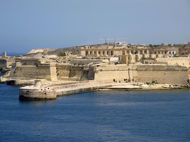 The fortress in vittoriosa (senglea, conspicuous), malta