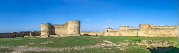 Fortress walls of the akkerman citadel in ukraine