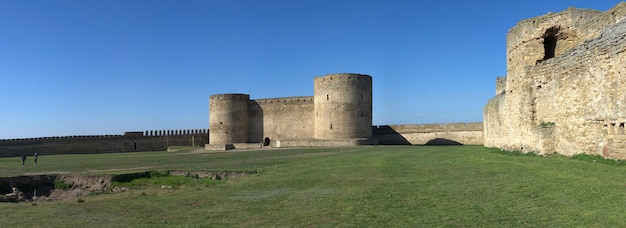 Fortress walls of the akkerman citadel in ukraine