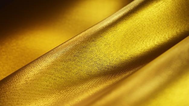 Удача и роскошь золотой ткани нити текстуры фона