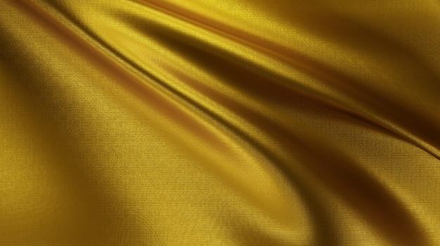 Фортуна и роскошная золотая ткань нити текстуры фона