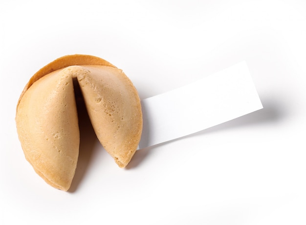 Fortune cookie with paper