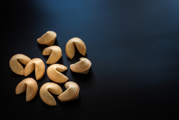 Fortune cookies isolated on background with copy space.