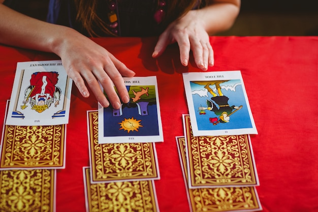 Fortune teller using tarot cards