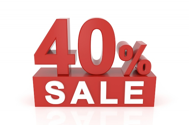 Forty percent sale