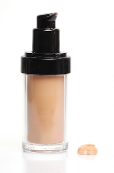 Foundation cream in bottle