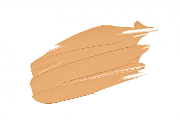 Foundation makeup cream, nude concealer isolated