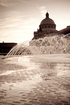 Fountain in boston, massachusetts, usa