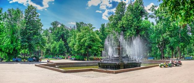 Fountain in chisinau central park, moldova