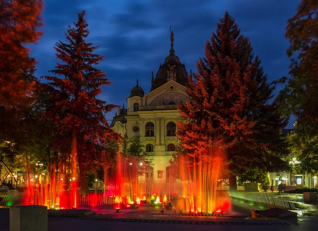 Fountain in front of the state theatre, kosice, slovakia