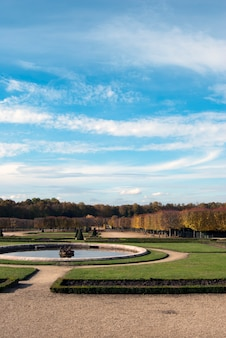 Fountain and gardens of versailles