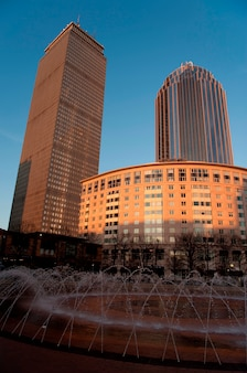 米国マサチューセッツ州ボストンの噴水 Premium写真