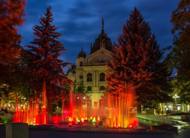 슬로바키아 코시체 국립극장 앞 분수