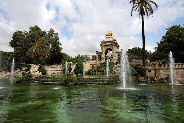 スペイン、バルセロナのシウタデラ公園の噴水