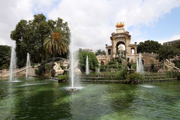 Fountain in parc de la ciutadella in barcelona, spain