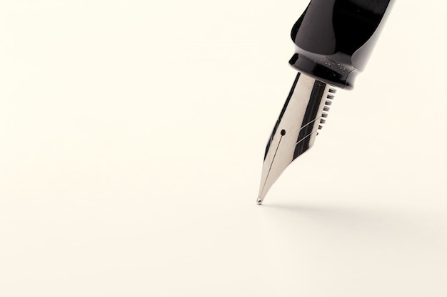 Fountain pen isolated on white background