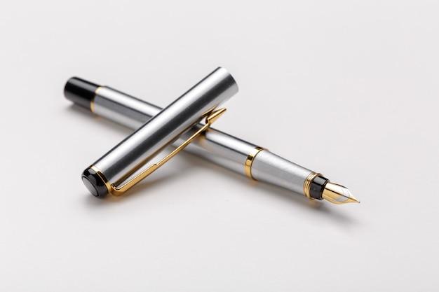 Fountain pen isolated on white