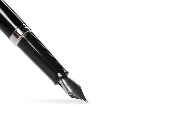 Fountain pen isolated on white