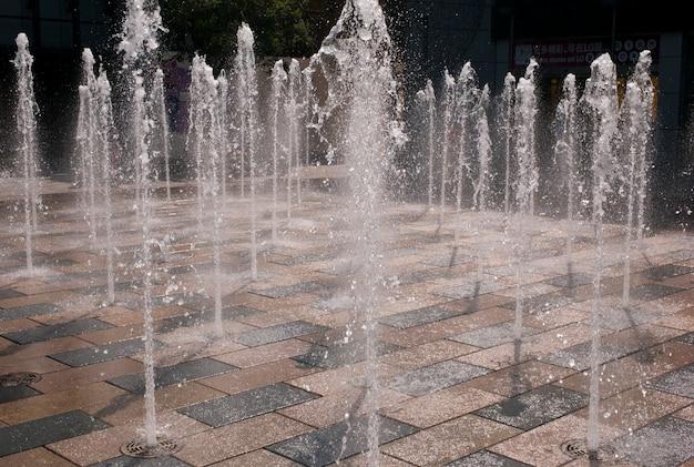 Fountains at sanlitun village, chaoyang district, beijing, china
