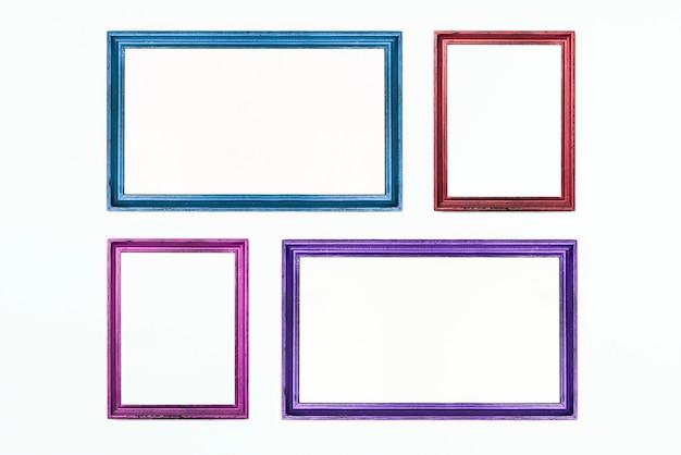 Четыре красочные прямоугольные рамки на белом.